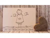 "L6 Postkarte ""Lass Dich treiben vom Strom des Lebens"""