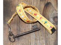 Schlüssel-Butler Schlüsselanhänger gelb mit Zootieren